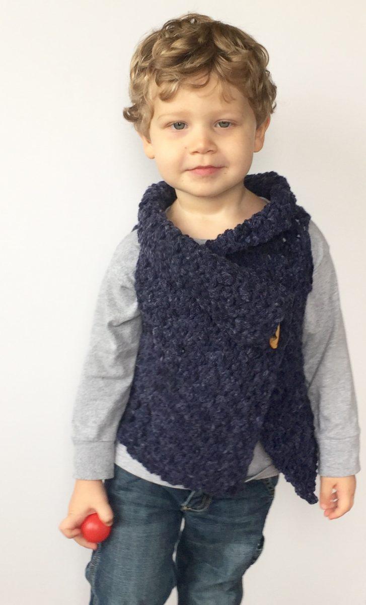 Chunky Vest crochet pattern in merino wool