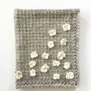 Flower Basket Baby Blanket crochet pattern by Little Monkeys Designs