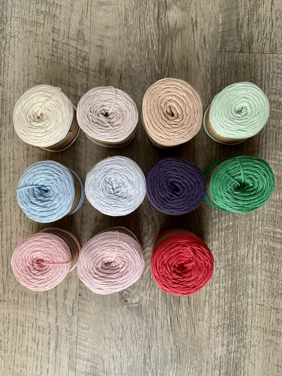 Organic cotton yarn by Little Monkeys Designs
