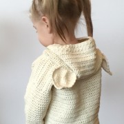 baby cardigan crochet pattern back view