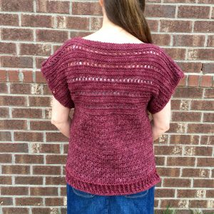 crochet pattern pullover back view