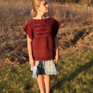crochet pattern pullover for girls