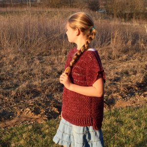 crochet pattern pullover for girls by little monkeys designs