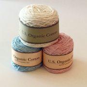 Appalachian Baby Design Organic Cotton Yarn blue, pink, cream