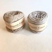 Appalachian Baby Design organic cotton yarn in doe and silver