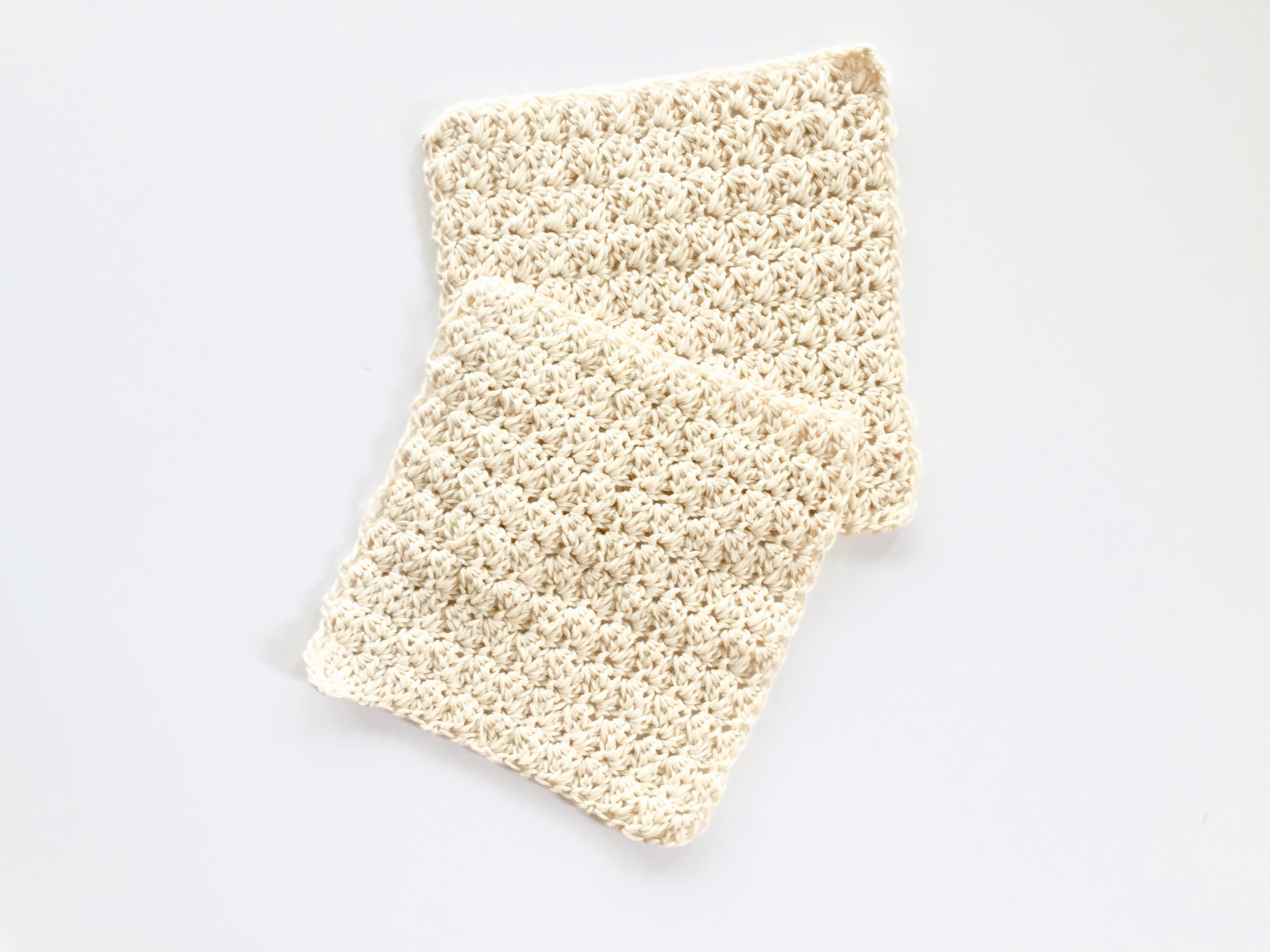 Sweet Baby Wash Cloths crochet pattern creamsicle