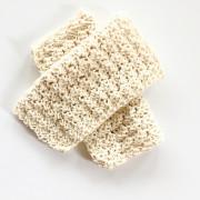 organic cotton wash cloth crochet pattern in organic cotton