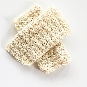 organic cotton wash cloth crochet pattern in organic cotton