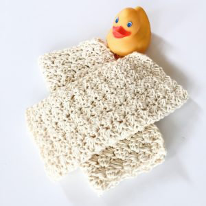 Sweet Baby Wash Cloth crochet pattern by Little Monkeys Designs