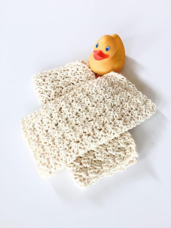 Sweet Baby Wash Cloth crochet pattern by Little Monkeys Designs