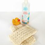 organic cotton wash cloth kit