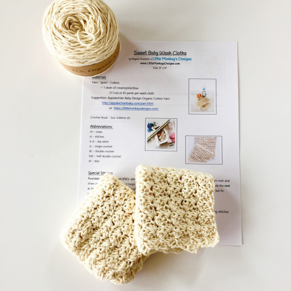 baby wash cloth kit