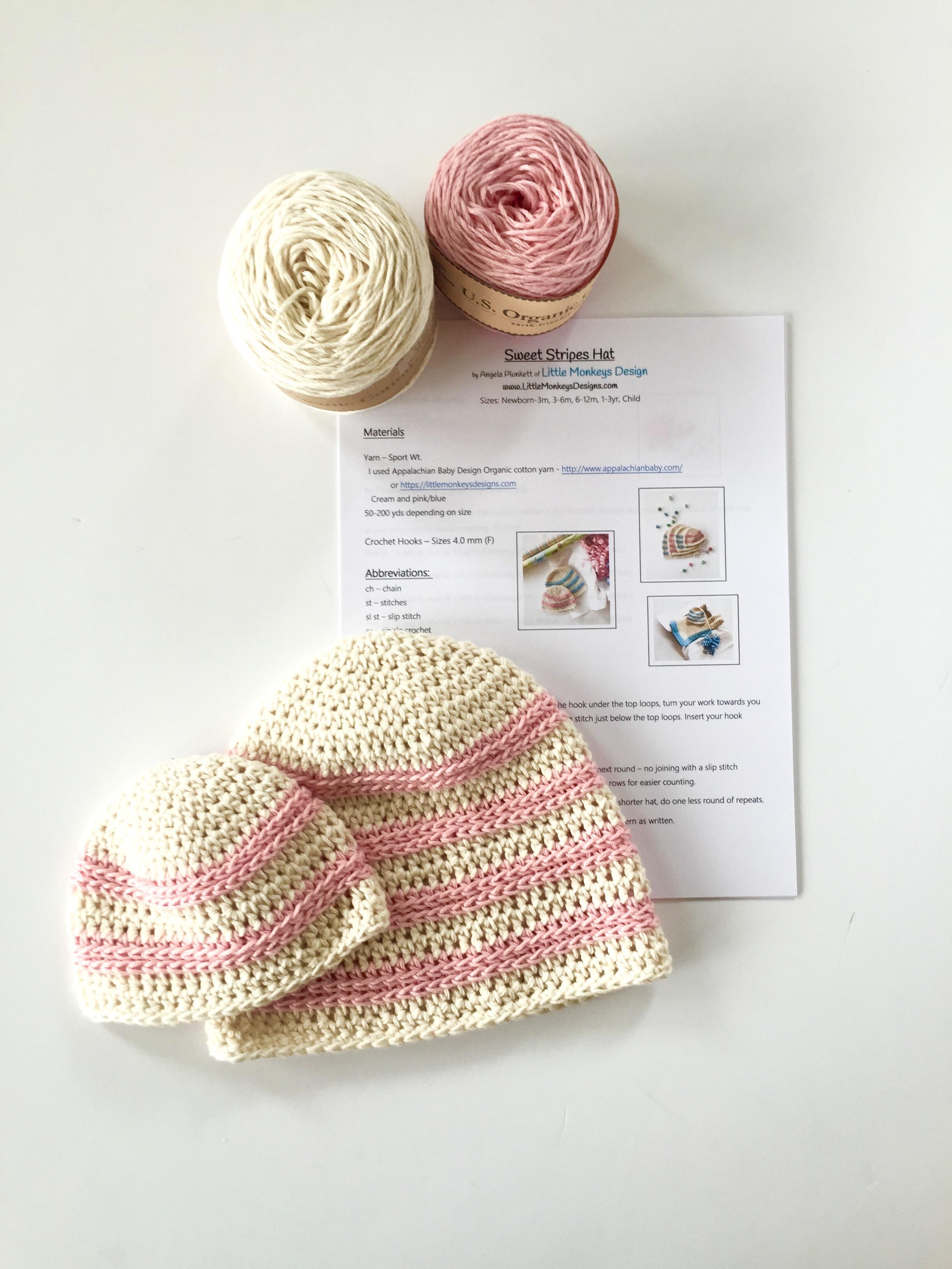 Organic Cotton Baby Hat Kit by Little Monkeys Design