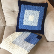 squares pillow cover crochet pattern and blanket