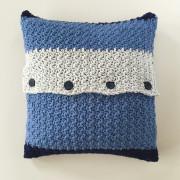 squares pillow cover crochet pattern organic cotton