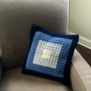 squares pillow cover crochet pattern