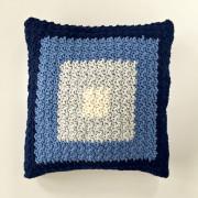squares pillow cover crochet pattern by Little Monkeys Design