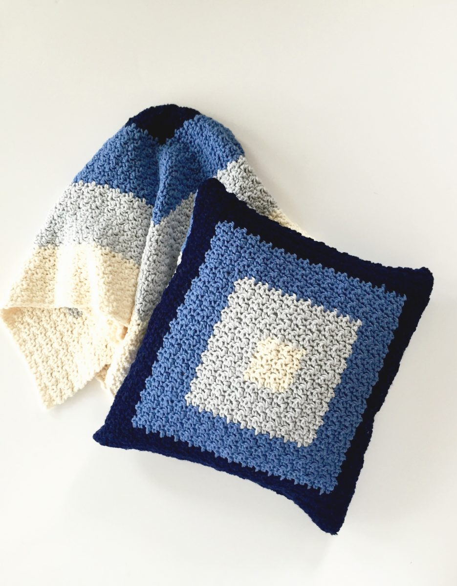squares pillow cover in blue creamsicle – Copy