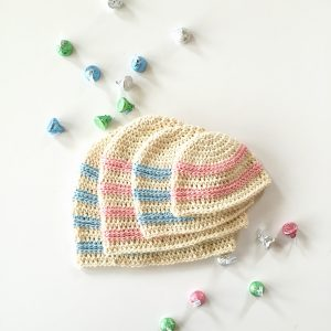 Sweet Stripes Baby Hat Crochet Pattern