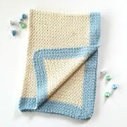 organic cotton baby blanket crochet pattern kit