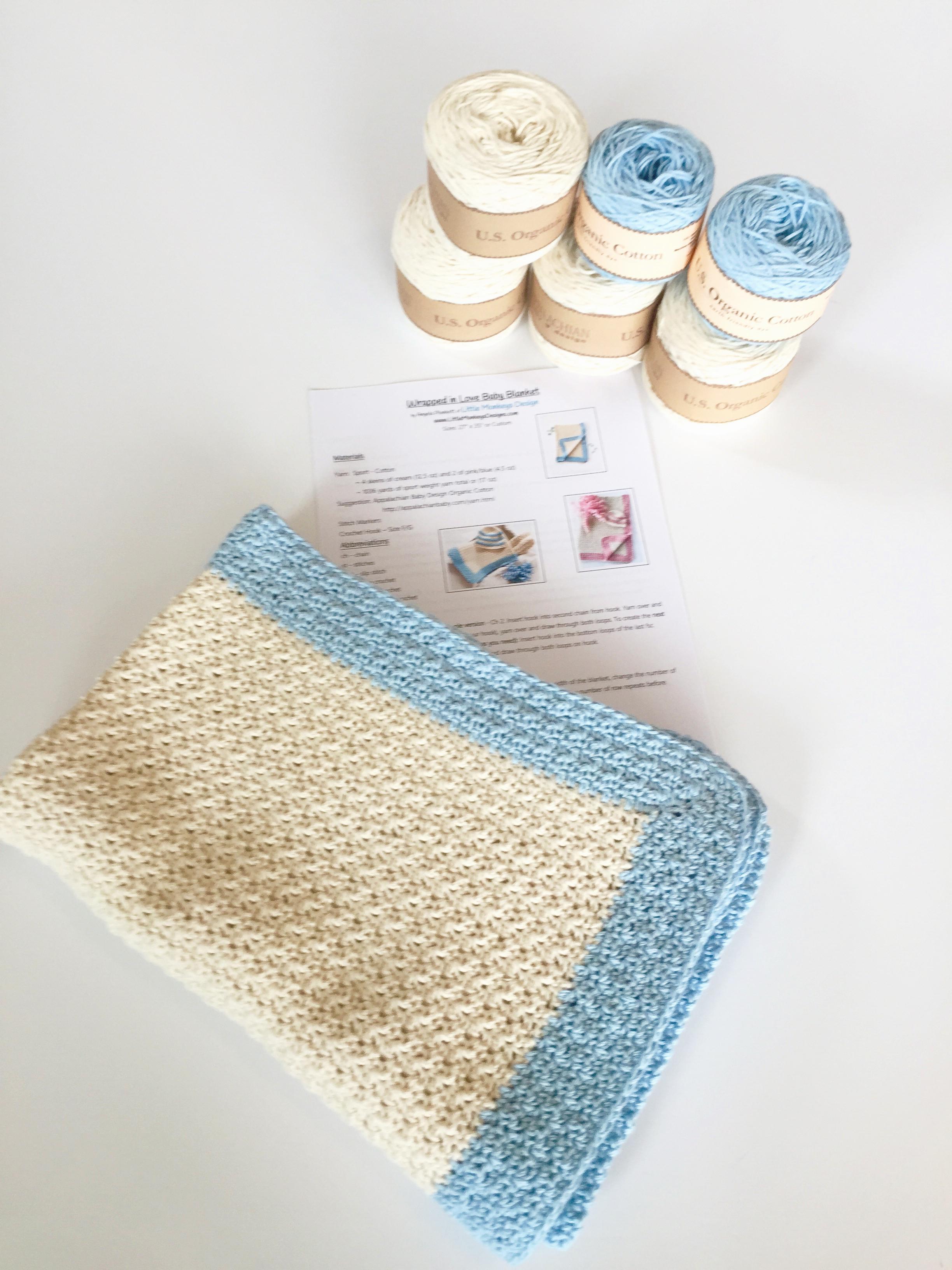 Baby Knitting Kits Uk : Crochet baby blanket pattern kit manet for