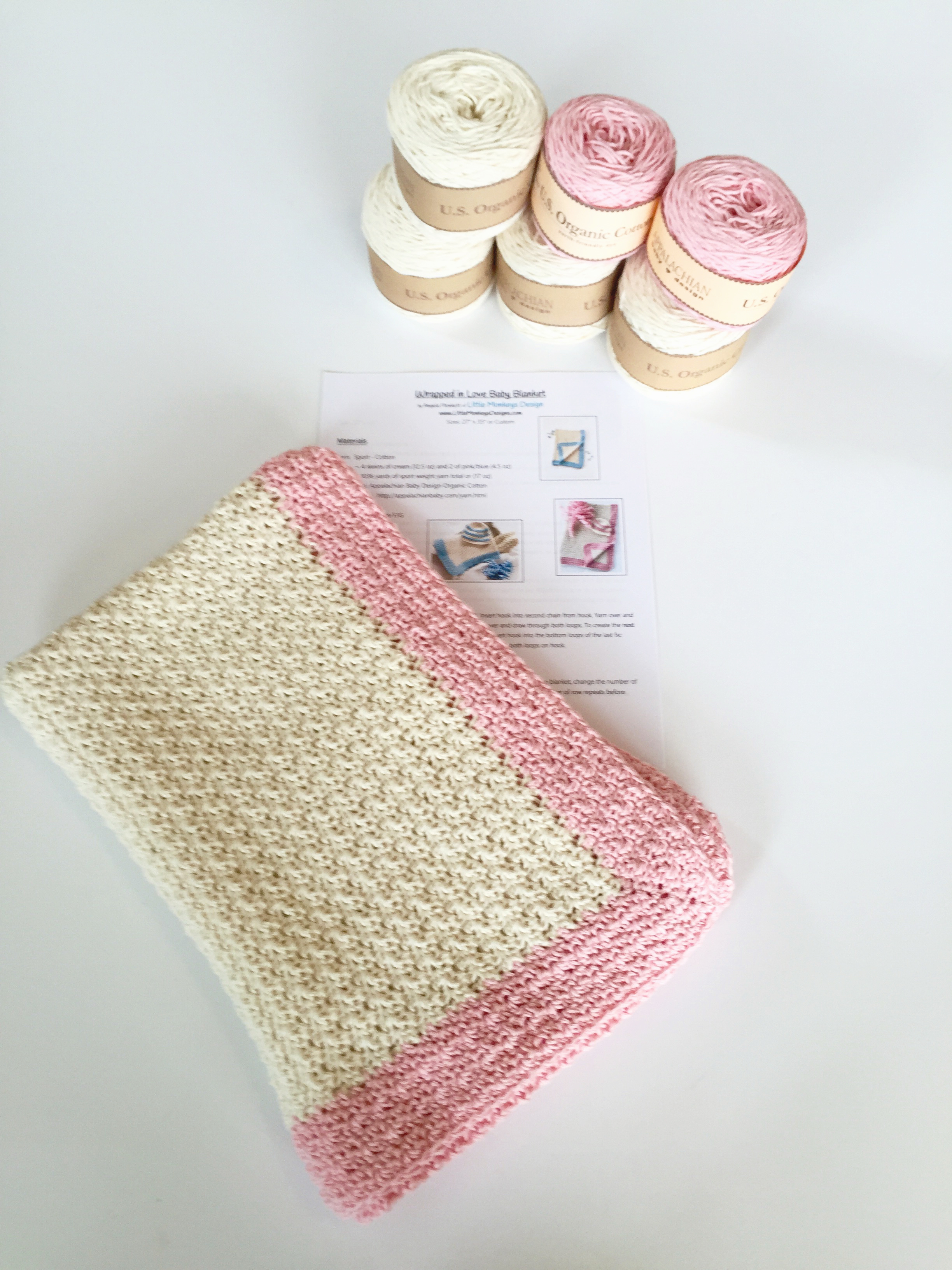 Baby Blanket Crochet Pattern Kit by Little Monkeys Design