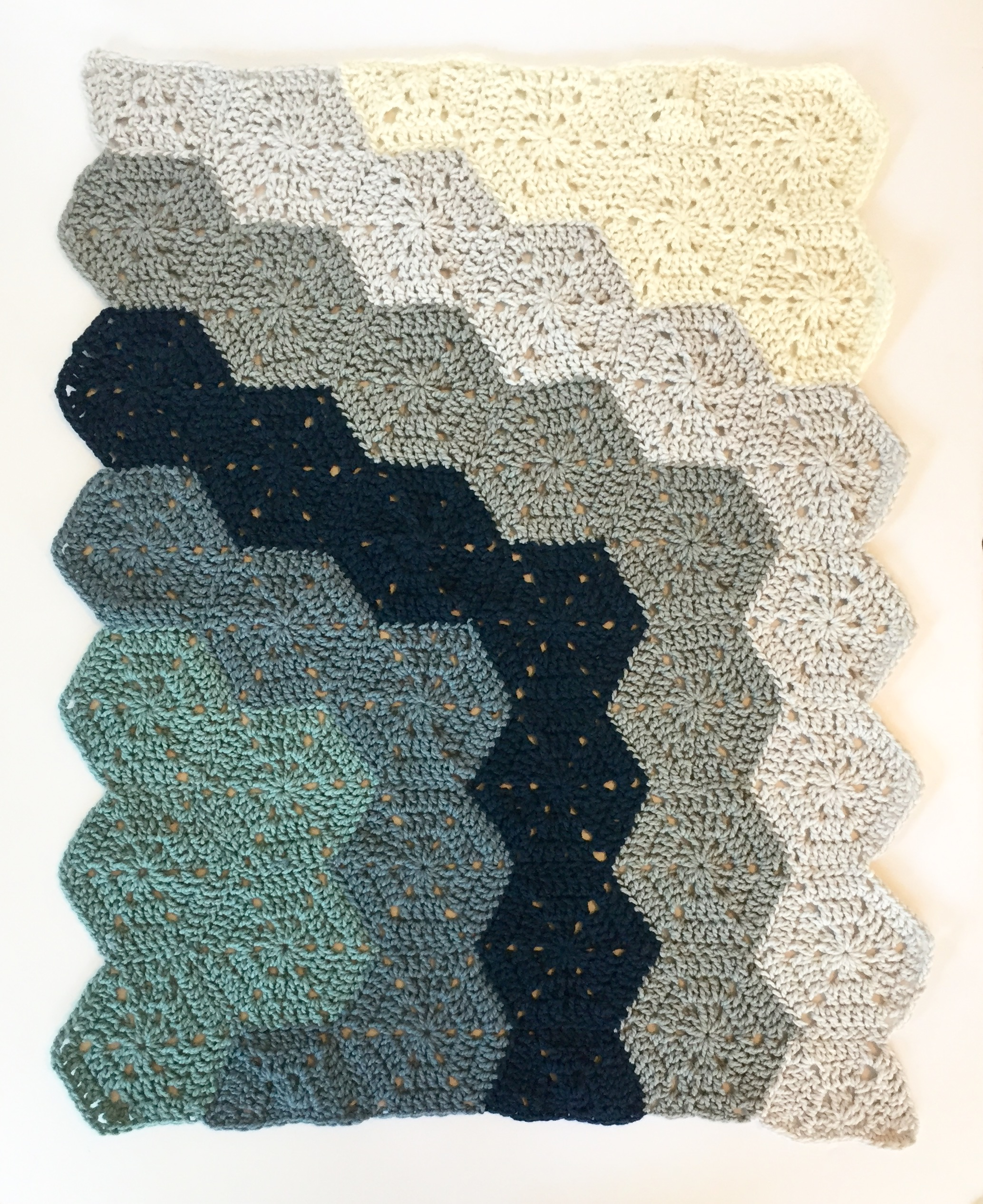 ... baby blanket crochet kit by Little Monkeys Design in merino wool