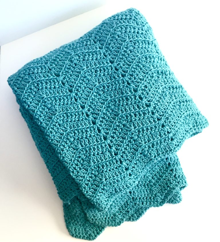 cozy comforts merino blanket in bluebell by Little Monkeys Design.