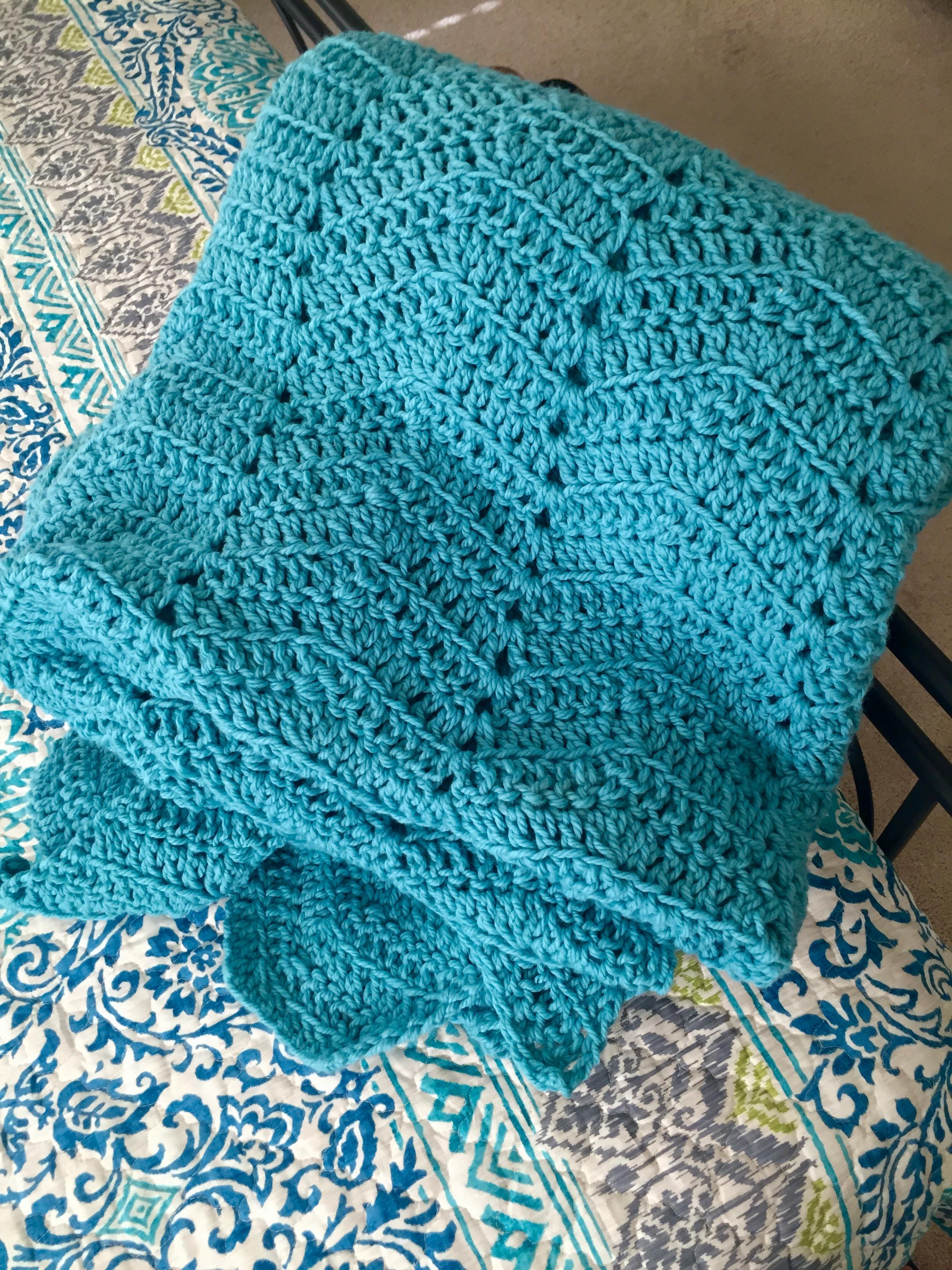 Cozy Comforts Blanket Crochet Pattern by Little Monkeys Design