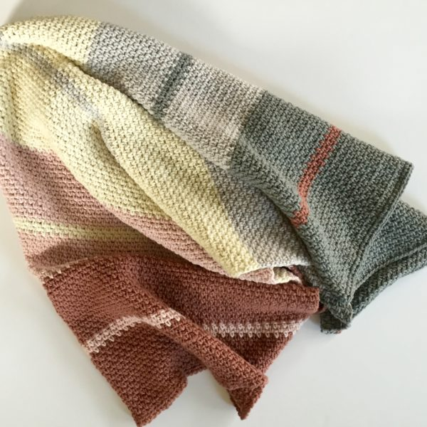 organic merino wool blanket crochet kit by Little Monkeys Design.