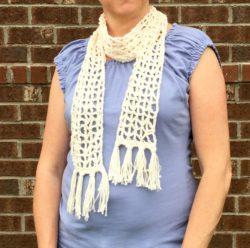 Free boho scarf crochet pattern