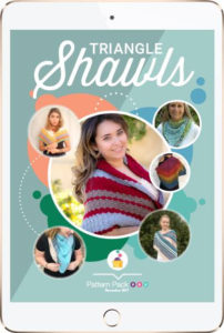 Pattern Pack Pro November 2017 - Triangle Shawls www.happilyhooked.com/angelaplunkettppp