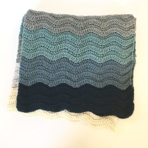 merino blanket in wedding colors by Little Monkeys Design.