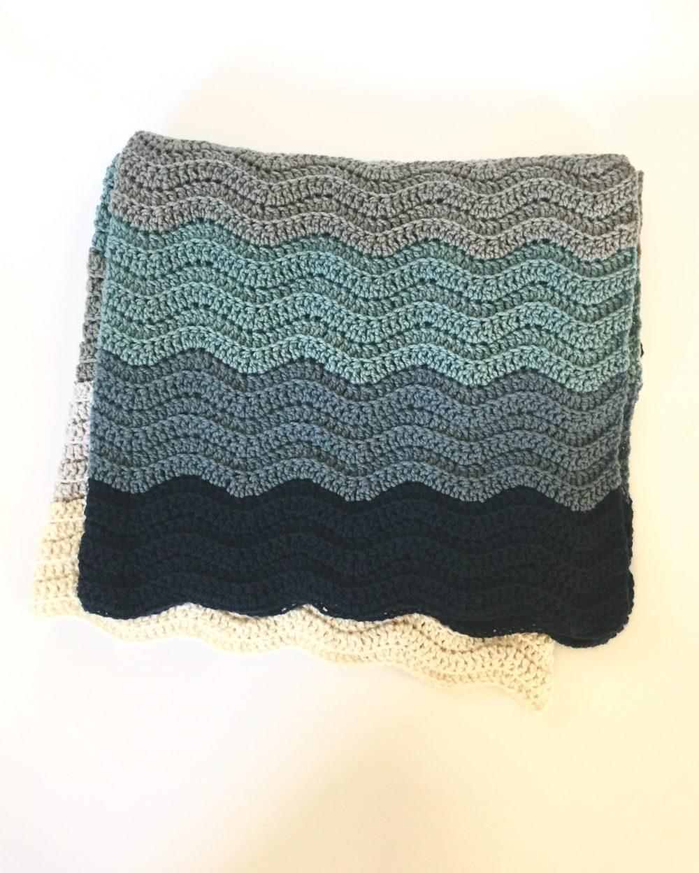 Wedding Blanket Crochet Pattern Bride blue
