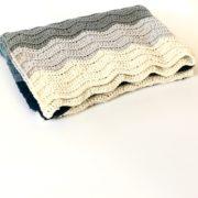 wedding blanket crochet pattern in blues. Handmade Merino blanket ready for purchase.