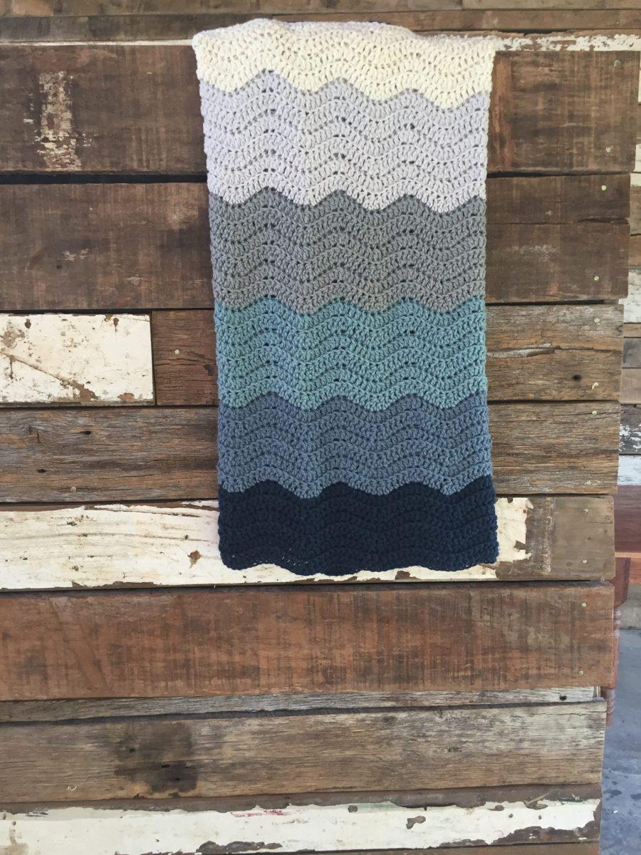 Wedding Blanket crochet pattern hanging
