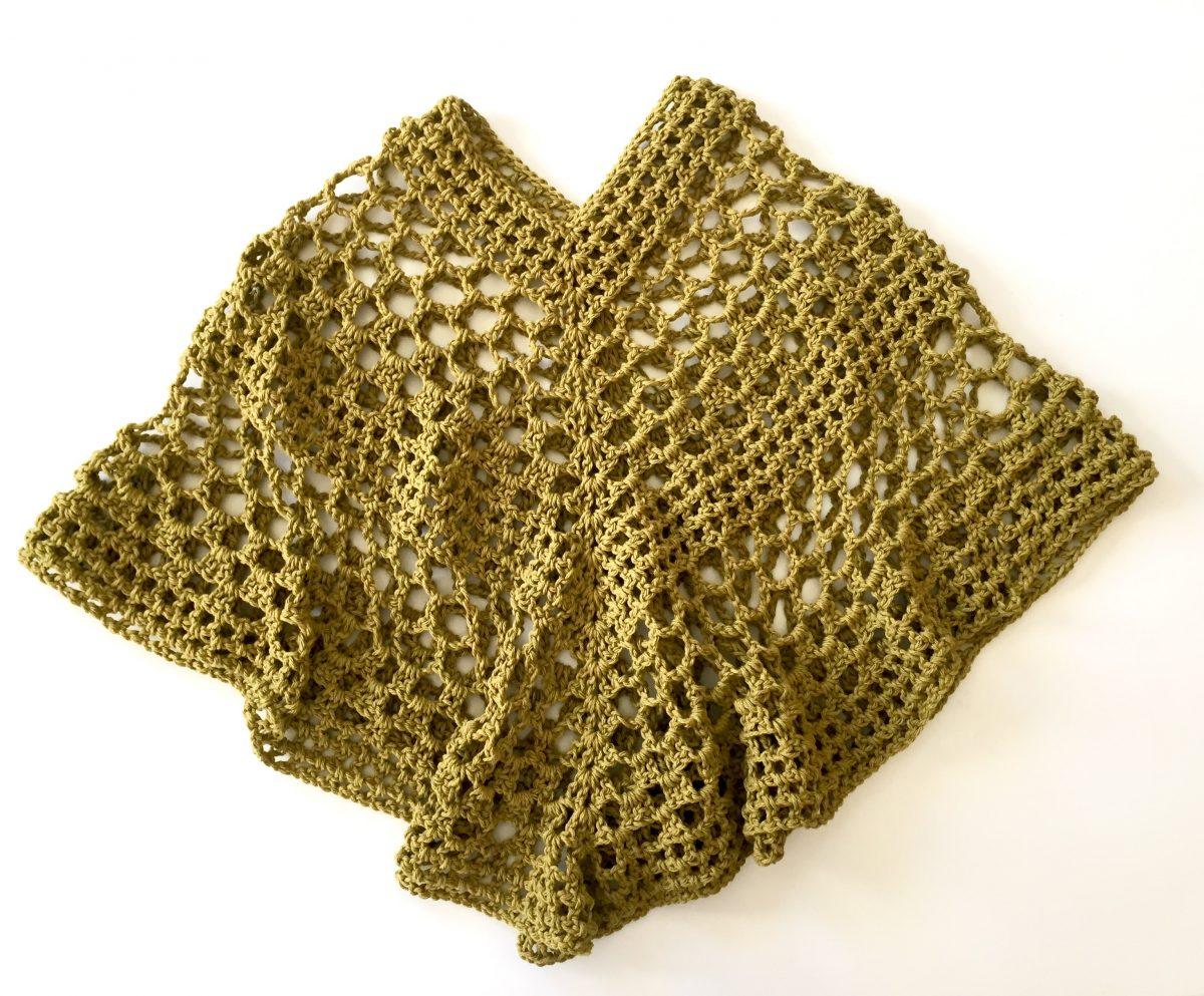 Beatrice poncho crochet pattern by Little Monkeys Design