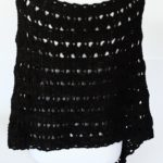 Dancing Shells Asymmetrical crochet poncho pattern by Little Monkeys Design