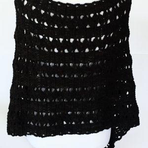 Dancing Shells Asymmetrical crochet poncho pattern by Little Monkeys Design