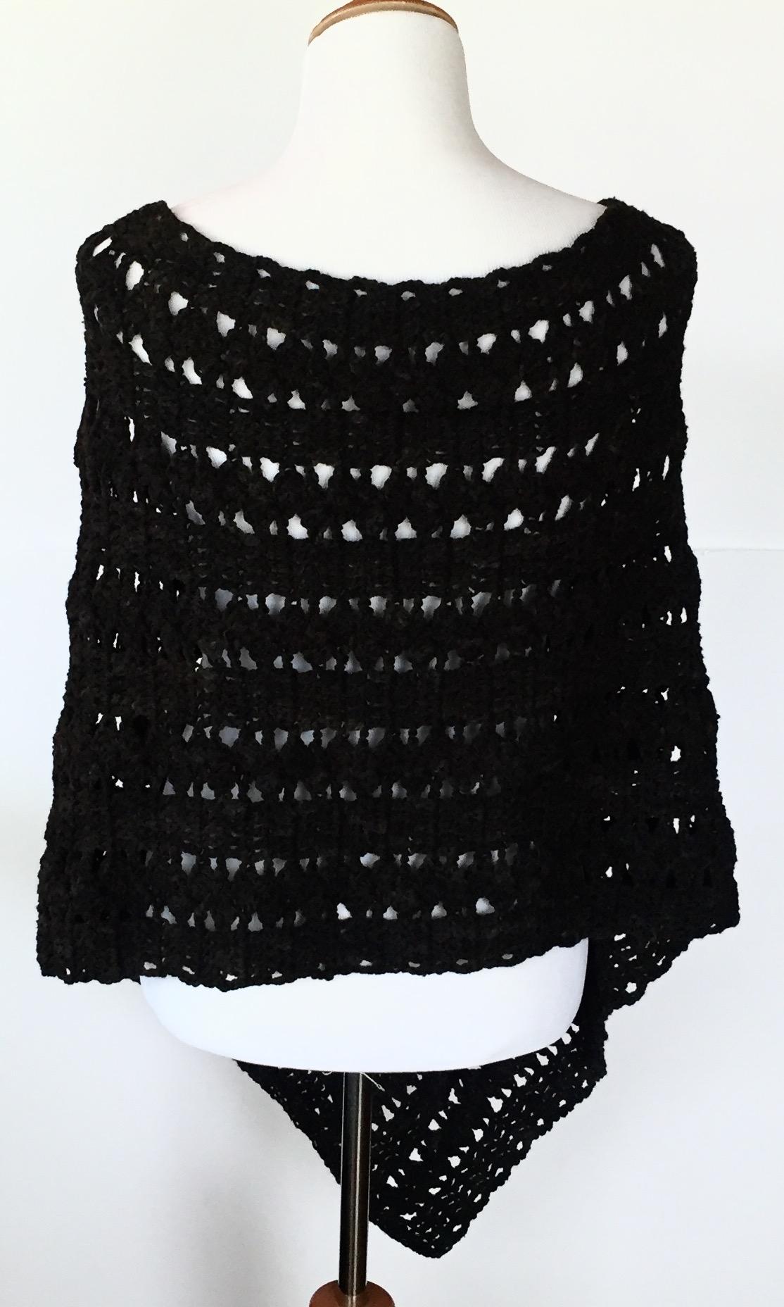 Dancing Shells Asymmetrica Poncho Crochet Pattern Little
