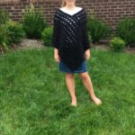 An asymmetrical poncho crochet pattern by Little Monkeys Design