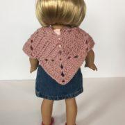 Meadow Doll Poncho crochet pattern by Little Monkeys Design