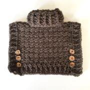 Sophia doll poncho with cowl crochet pattern by Little Monkeys Design