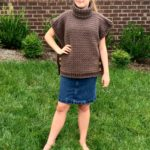 Sophia Poncho Cowl neck poncho crochet pattern by Little Monkeys Design