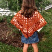 lacy poncho crochet pattern - Beatrice Poncho by Little Monkeys Design