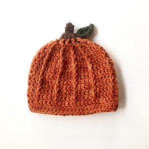 Fall Pumpkin Hat crochet pattern by Little Monkeys Designs