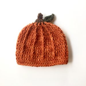 Pumpkin hat crochet pattern by Little Monkeys Design