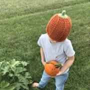 Pumpkin hat crochet pattern by Little Monkeys Designs