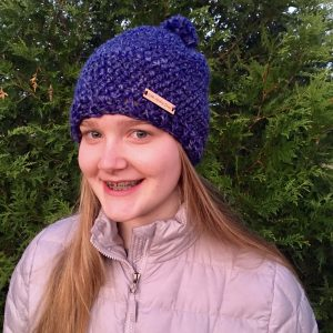 Hello Winter Chunky Hat Crochet PAttern by Little Monkeys Design