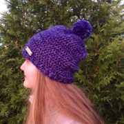 Hello Winter Chunky Hat Crochet PAttern by Little Monkeys Design